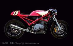 Suzuki Bandit 400 Cafe Racer #motorcycles #caferacer #motos | caferacerpasion.com