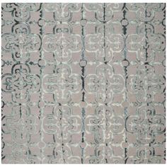 Dip Dye Gray/Charcoal (Gray/Grey) 7 ft. x 7 ft. Square Area Rug