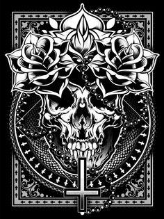 Crosses †††  by sick 666 mick, via Behance