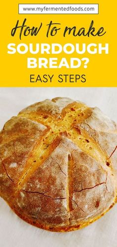Craving a simple and tasty bread? Check out this homemade sourdough made with three ingredients: water, salt and sourdough starter. . . . #bread #fermentedfoods #sourdough #healthygut #baking