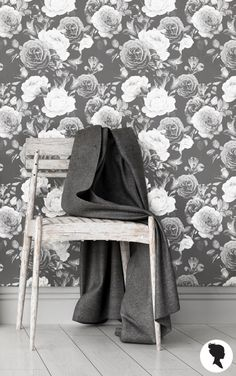 10 Etsy Home Decor Stores To Bookmark - removable, peel and stick wallpaper, black and white floral