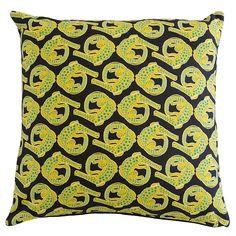 Scatter Cushion.  Qalakabusha range: Crocodile Lime Lights.