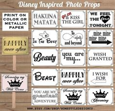 Your place to buy and sell all things handmade Disney Inspired Photo Props Printable Large Funny DIY 15 photo booth props for party, wedding, or photo shoots. Wedding Humor, Party Wedding, Wedding Stuff, Dream Wedding, Wedding Ideas, Camera Aesthetic, Diy Photo Booth Props, Photobooth Props Printable, Funny Wedding Photos
