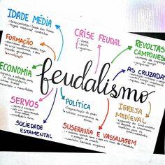 ✨ Resumo de história sobre feudalismo. Queria escrever mais coisas nesse resumo? Queria. Mas só se usasse uma cartolina. 😂 . . . . . . . . . (Mais resumos no drive. Link na bio) . . . #studygram #resumo #mapamental #historia #enem2018 #enem