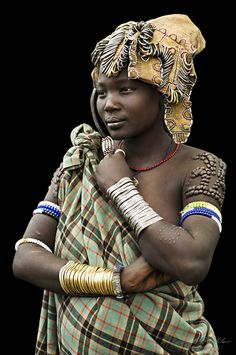 Young Girl from the Mursi Tribe. Omo Valley, Ethiopia