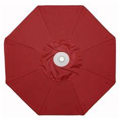 Galtech 9-ft. Aluminum Auto Tilt Patio Umbrella with Umbrella Lights Suncrylic Cardinal Red - 936AB-26