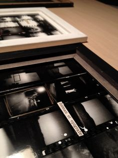 Preparing a new exhibition   Lessons of abyss XI   Contacts sheets framed