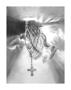 Praying hands, she has a design like this for her tattoo, it will be on her shoulder blade and have the names and DOD for family and friends who have left this earth.