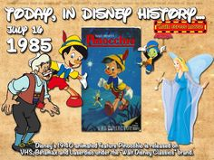 Today In Disney History ~ July 16th Pinocchio is a 1940 American animated musical fantasy film produced by Walt Disney Productions and based on the Italian children's novel The Adventures of Pinocchio by Carlo Collodi. It was the second animated feature film produced by Disney, made after the success of Snow White and the Seven … Continue reading »