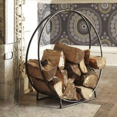 Circle Log Holder | Home Accessories | Graham and Green