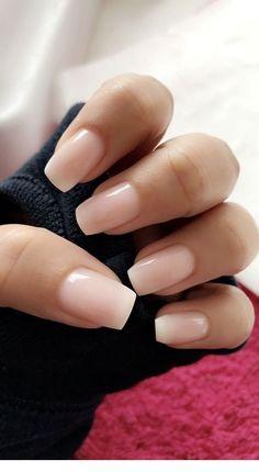33 Gorgeous Wedding Nail Designs For Brides - blush pink nails, neutral wedding nails, neutral nail art designs Cute Acrylic Nails, Cute Nails, Pretty Nails, My Nails, How To Do Nails, Natural Acrylic Nails, Gradient Nails, French Tip Acrylic Nails, Ombre French Nails