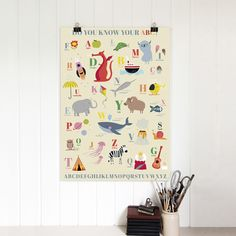 5 Sheets Of Children's A B C Wrapping Paper | Rex London (dotcomgiftshop)