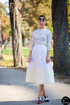 Paris FW SS15 Street Style: Ulyana Sergeenko