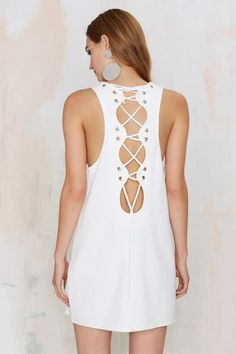 Nasty Gal Genevieve Lace-Up Mini Dress | Shop Clothes at Nasty Gal!