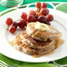 Cinnamon Applesauce Pancakes - add more apple chunks and some nutmeg and brown sugar...