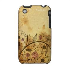 Girly Abstract Grunge Floral iPhone3 Speck Case by dmboyce
