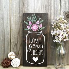 Yay! First shop update! This sign is now available in our shop, and was hand painted by yours truly. :)