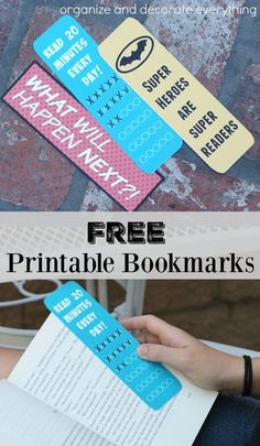 Free Printable Bookmarks - Organize and Decorate Everything