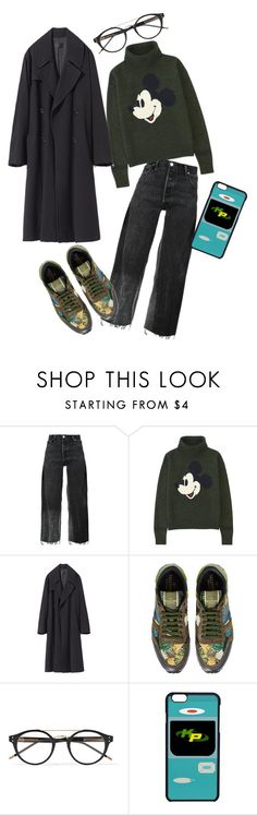 """NC"" by xxelectre on Polyvore featuring RE/DONE, Uniqlo, Valentino and Bottega Veneta"