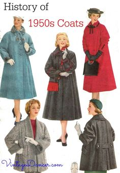 New coats and jackets inspired by the beauty of vintage coats. Swing coats, cape coats, half coats and trench coats all with retro vintage style. Fifties Fashion, Retro Fashion, Trendy Fashion, Winter Fashion, Vintage Fashion, Fashion Ideas, Fashion Clothes, Latest Fashion, 1950 Style
