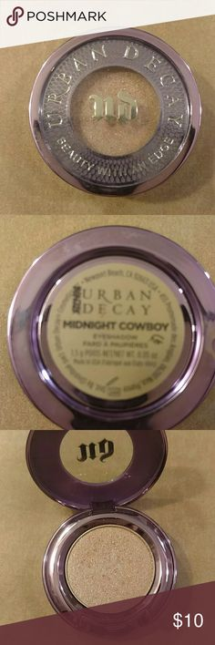 Urban Decay Eyeshadow- Midnight Cowboy color Neutral light pink color with sparkle, used once.  Product has been sanitized. Urban Decay Makeup Eyeshadow