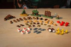 Robinson Crusoe - tokens made from polymer clay (FIMO)