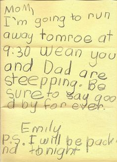 funny letters from children