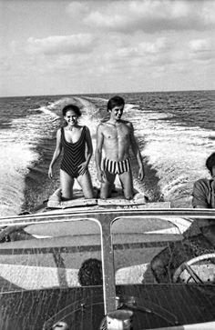 Claudia Cardinale and Alain Delon