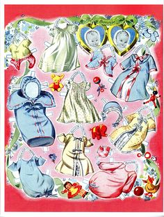 Louise Rumely's Baby's First Year* 1500 free paper dolls at Arielle Gabriel's International Paper Doll Society for other paper doll Pinterest pals...*