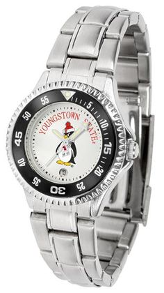 Youngstown State Penguins Competitor Ladies Steel Watch
