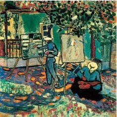 Czóbel Béla, Festők a szabadban, 1906