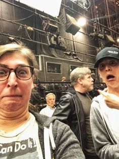 """Mayim Bialik on Twitter: """"Literally what happened when Kaley and I met @HamillHimself !!! Also I peed my pants.… """""""