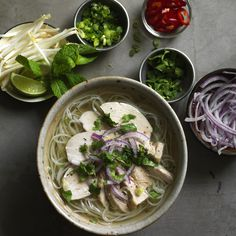 Classic chicken pho.