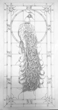 Peacock – gaby aubin Peacock Peacock stained glass pattern 22 x 45 2 prints black and white Stained Glass Patterns Free, Stained Glass Quilt, Stained Glass Birds, Faux Stained Glass, Stained Glass Designs, Stained Glass Windows, Peacock Decor, Peacock Art, White Peacock