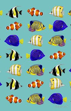 'Tropical fish' iPhone Case by Colorful Fish, Tropical Fish, Tattoo Pez, Sea Life Art, Ocean Life, Fish Chart, Ocean Drawing, Fish Artwork, Underwater Painting