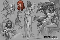 ArtStation - Amelie from Replicide , Boris Dyatlov