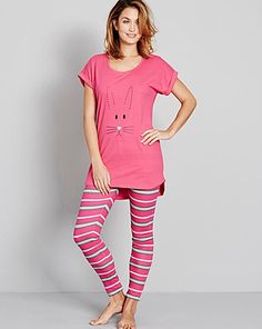 Pretty Secrets PK2 Legging Pyjama Set | J D Williams