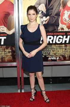 """Anna Kendrick Parades Her Legs in Fancy Heels as  She Promotes """"Mr. Right""""   Buy ➜ http://shoespost.com/anna-kendrick-mr-right-premiere-stuart-weitzman-lace-up-sandals-d-orsay-pumps-2016-style/"""