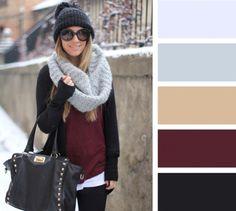 15 актуальных цветовых решений для шарфа и шапки 9