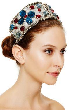 M'O Exclusive: Tsar Embellished Headband in Silver by Masterpeace - Moda Operandi