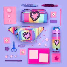 Pixel heart bottle in stock 💫💖 Stay hydrated ☀️🕺🏻 Link in bio 🤓 Cute School Supplies, Emoji, Rainbow, Stay Hydrated, Bottle, Toys, Heart, Instagram, Link