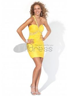 Cheap Cocktail Dresses / Chiffon Sweetheart Neckline One Strap Beading  cheap cocktail dresses / http://www.thdress.com/Chiffon-Sweetheart-Neckline-One-Strap-Beading-cheap-cocktail-dresses-p888.html