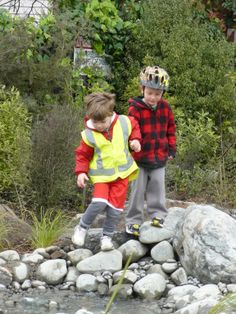 Charteris - Bowie boys in Nature Play Park