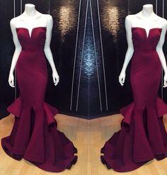 2016 Summer barato novia sin mangas borgoña sirena de satén de baile vestidos Sexy largo Prom vestidos baratos vestidos del partido del envío libre