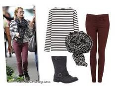 what to wear with burgundy jeans - Google Search
