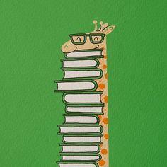 giraffe + books.  all I need is the giraffe!