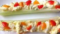 Egg Salad Stuffed Celery #madewithEB