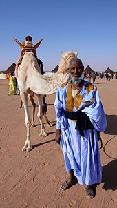 The Sahrawi, or Saharaui are the people of the Western Sahara (the westernmost Sahara desert), in the area of present-day Mauritania, southern Morocco, the Western Sahara territory and extreme southwestern Algeria. The term Sahrawi is frequently used in more of a nationalist than an ethnic sense, particularly relating to the disputes over sovereignty in the Western Sahara. As with most Saharan peoples, their culture is mixed, showing Arab, Berber, and black African characteristics.