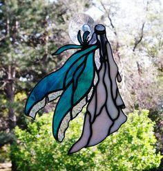 Stained Glass  Fairy Suncatcher. $44.45, via Etsy.