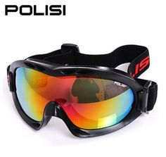 POLISI Men Women Ski Snow Glasses 100%UVA/UVB Protection Winter Motorcycle Skiing Goggles Anti-Fog Snowboard Skate Eyewear
